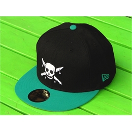 "Boné New Era Four Star Pirate - 7 3/8"" - 58,7cm Black/Ciano"