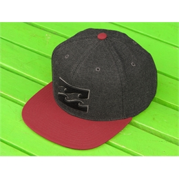 Boné Snapback Billabong All Day Class - All Day Class R Black/Red