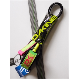 Leash Dakine Kainui Team 6' Regular - Lime/Pink