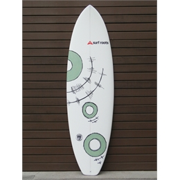 "Prancha Surf Roots Heavy Weight 6'6 - 6'6"" x 22"" x 3 1/8"""