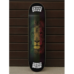 "Shape Wood Light Agressive Rasta Lion - 31.75"" x 8.25"""